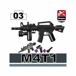 Карабин M4T1 с фонарем, черный