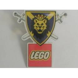 Knights' Kingdom I Lion Shield with Crossed Swords and LEGO Logo