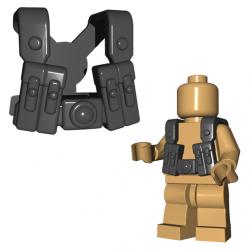 German Gunner Suspenders Dark Gray