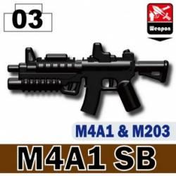 Автомат M4A1 в модификации SB, черный