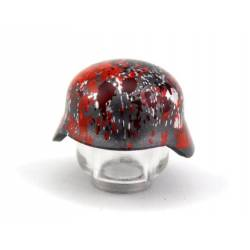 Stahlhelm Blood print