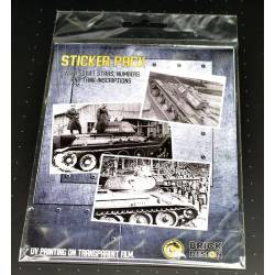 WWII SOVIET Stars, numbers and tank incriptions - Stickers